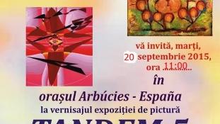 Expoziție de pictură TANDEM 5, scriitori și pictori Eugenia Boteanu și Victor Foca