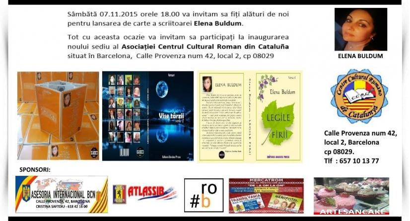 Picătura de cultură-Lansare de carte și inaugurarea centrului Asociației Centrul Cultural Român din Barcelona