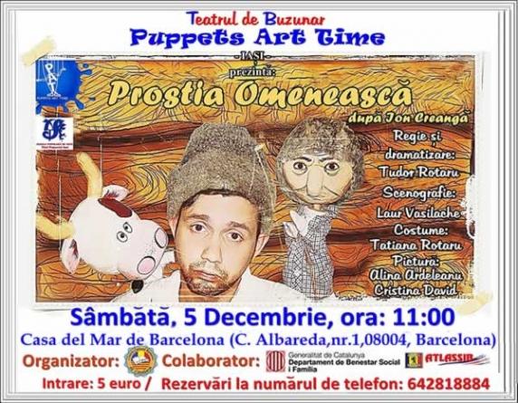 Tragere la sorti: doua bilete la Teatru de Papusi – Barcelona