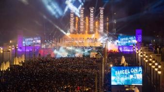 Sărbătoarea Anului Nou 2016 la Font Magica de la Montjuic Barcelona