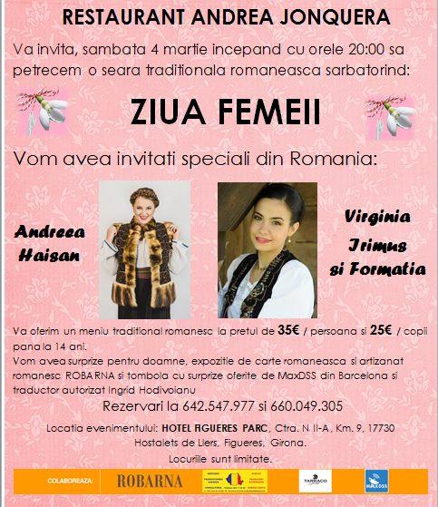 Ziua Femeii – Jonquera (Girona) – Sarbatoare Speciala