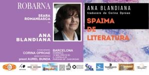 Ana Blandiana. Robarna invita la seara literara din Barcelona