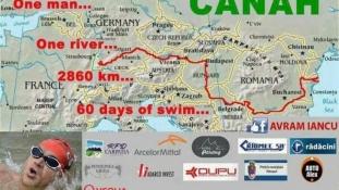Record: Bibliotecarul Avram Iancu a terminat cursa de inot pe Dunare, de la izvoare la Marea Neagra