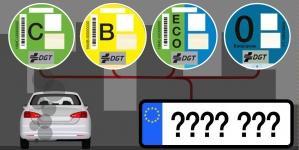 Eticheta care permite accesul cu masina în Madrid si Barcelona