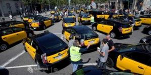 Greva spontană a taximetristilor paralizează centrul Barcelonei