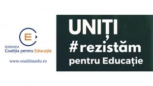 Coaliția pentru Educație: Uniți #rezistăm pentru Educație