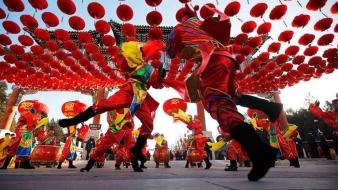 Parada pentru Anul Nou Chinezesc in Barcelona