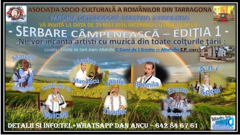 Invitaţie la Serbarea Câmpenească de la Tarragona