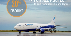 3 zile de bilete mai ieftine la Blue Air