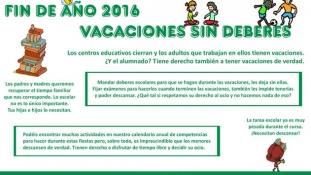 Un Craciun fara teme pentru acasa, ultima dorinta a parintilor din Spania