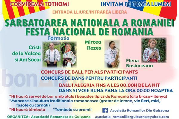 La Guissona, sărbătoarea dedicată Zilei Naționale a României