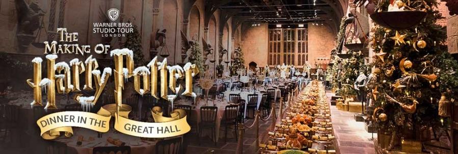 De Crăciun, fanii lui Harry Potter vor putea lua cina în marea sală de festivități a castelului Hogwards