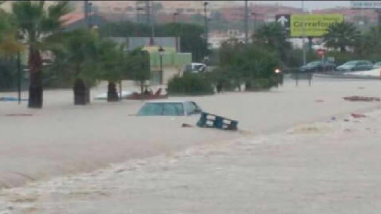 Malaga sub ape – Sudul Spaniei lovit de ploi puternice