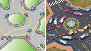Circulaţia într-un sens giratoriu – rotonda