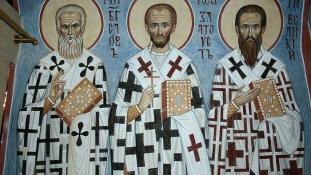 Sfintii Trei Ierarhi – Vasile cel Mare, Grigorie Cuvantatorul de Dumnezeu si Ioan Gura de Aur